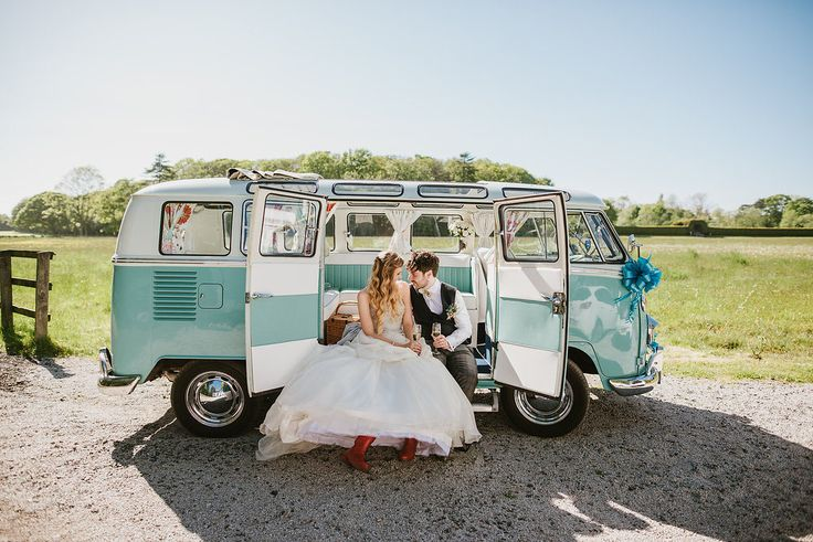 High school sweethearts Victoria and Ian were married in May. Their wedding was loosely based on their love of Glastonbury festival with references including their invites and the decorations.