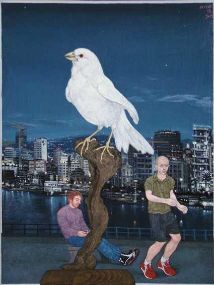 Emmanouil Bitsakis   http://embitsakis.com    :::   Oil on canvas, 24 X 18 cm, 2005 ( Beirut )