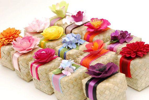 Cajas de lauhala o pandano con tapa cajas por EcoFriendlyMarket