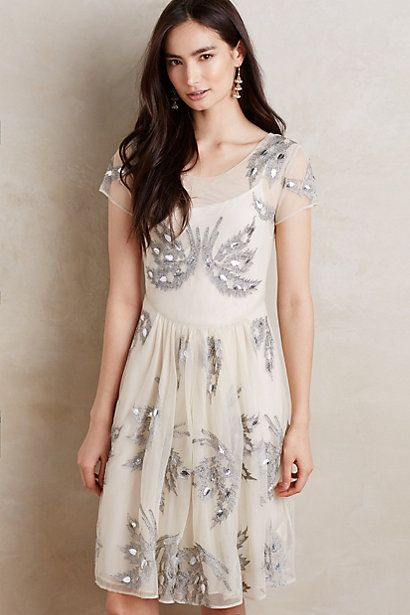 Snow Angel Dress #anthropologie