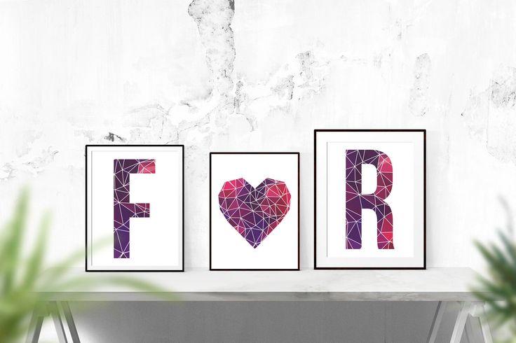 Geometrische Letters / / Print, bruiloft, geometrische, bruiloft cadeau, overeenkomstengift, inspirerende, kwekerij, alfabet, Letters, bruiloft, initialen door TheNativeState op Etsy https://www.etsy.com/nl/listing/222712774/geometrische-letters-print-bruiloft