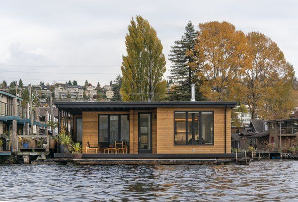 Lake Union Floating Home By Atelier Drome Floating House House Design House Boat