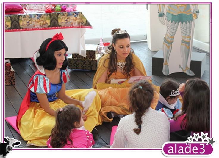 Estupendísima fiesta de princesas y caballeros en la que no faltó ningún detalle