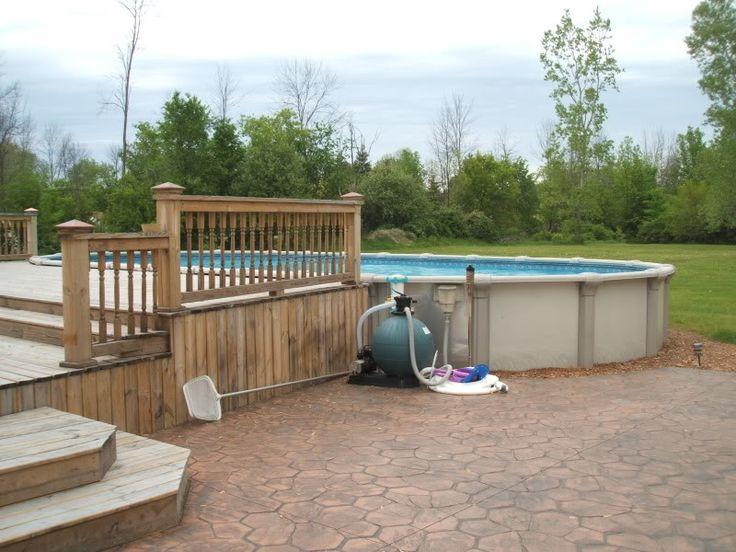 7 besten home grill terrasse bilder auf pinterest for Ovaler pool garten