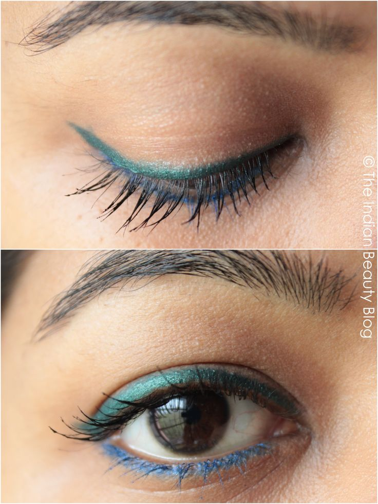 Forest green and blue eyeliner look! Simple and easy- ready for a girls night out in seconds! <3 #makeup