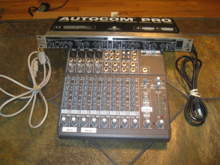 Bundle MACKIE 1202-VLZ PRO 12 CHANNEL and Behringer Auotcom Pro MDX-1400  #Mackie