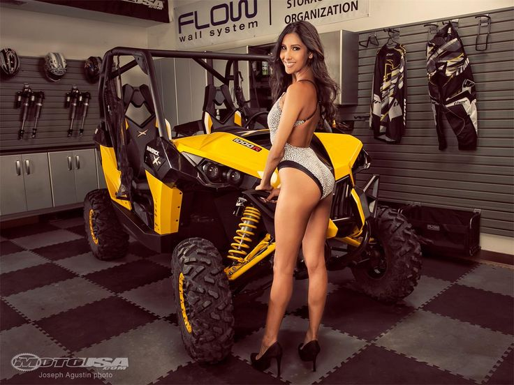 Deandra Posing With 2013 Can Am Maverick 1000r X Rs