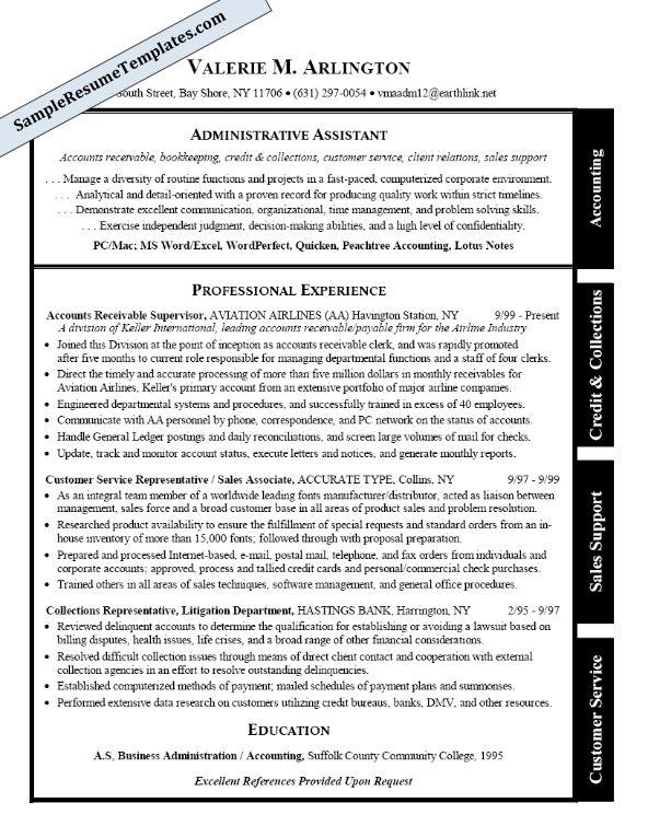 De 25+ bedste idéer inden for Administrative assistant resume på - sales support resume