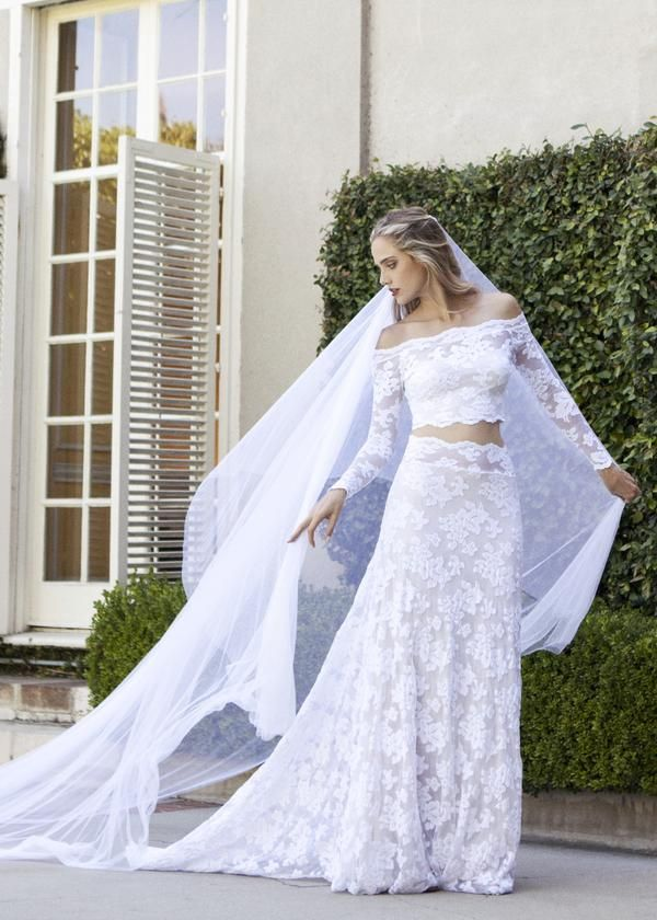 659 best crop top two piece wedding dresses images on pinterest lennox 20 by wear your love crop top wedding dress two piece wedding dress junglespirit Choice Image