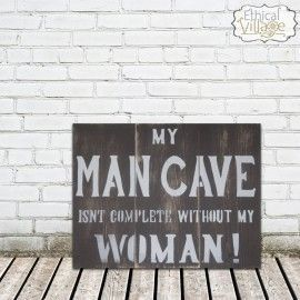 Gotta get this for my man... a little reminder! Ethical Village makes awesome barnwood signs!