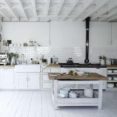 We love white floor boards