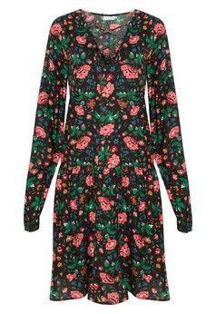 Vestido dark floral Market 33 - preto