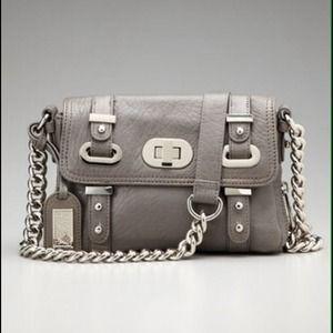 BADGLEY MISCHKA Handbags - BADGLEY MISCHKA gray Janet Leather Mini Bag