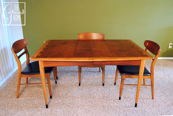 Found mid century lane acclaim dining table and chairs for Found furniture