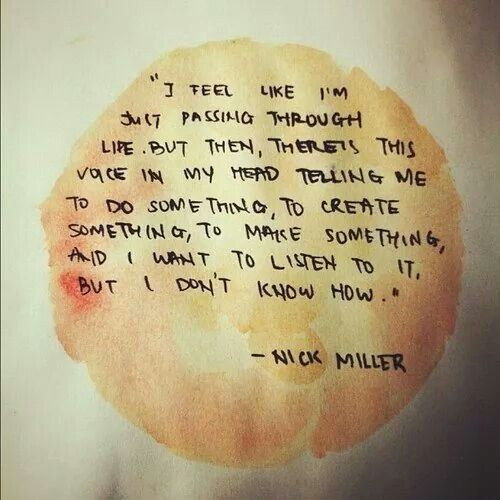 Nick Miller, Very profound... even if it is about him writing a zombie novel lol
