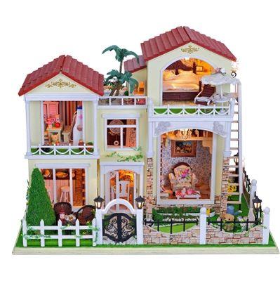 弘达建筑模型diy小屋世纪拉菲豪园手工拼装创意礼物生日礼物女生-淘宝网