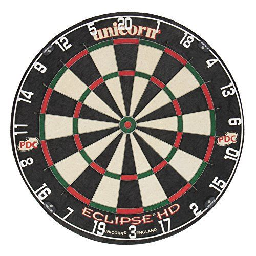 Unicorn Eclipse HD TV Edition Bristle Dartboard  Full review at: http://best10best.com/best-dartboard/