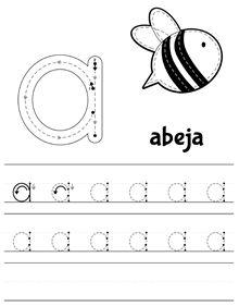 Resultado de imagen para fichas caligrafia de las vocales