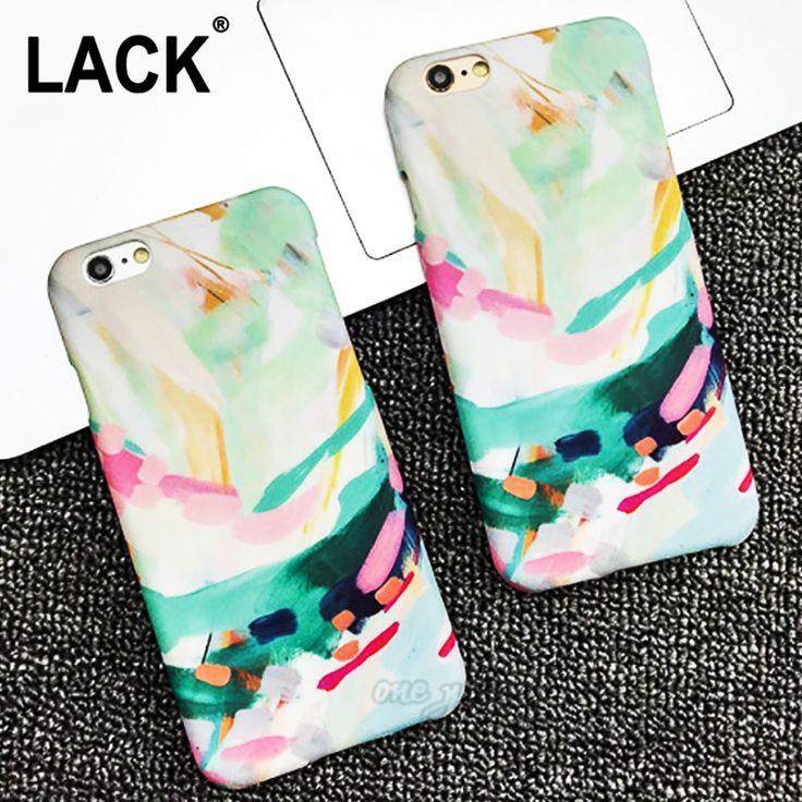Color dibujo artístico cubierta para iphone 5s caso para apple iphone 5 5S 6 6 S Plus Moda Lindo Dulce Caramelo Cajas Del Teléfono Fundas Capa