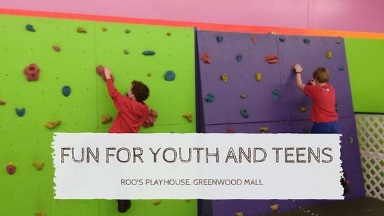 There are plenty of activities for youth and teens to do at Roo's Playhouse at the Greenwood Mall from the Eyeplay Virtual Playground, laser tag and the climbing wall.