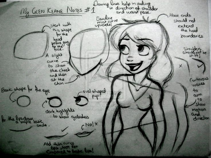 Self Glen Keane tutorial by Navaehluvsanime.deviantart.com on @deviantART
