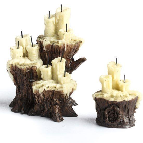 Fiddlehead Fairy Miniature Evil Lair Candles - Fairy Garden Miniatures - Dollhouse Miniatures - Doll Making Supplies - Craft Supplies
