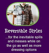12 reasons why Peekaboo Beans is different from other kids clothing brands.  REASON #12 - REVERSIBLE STYLES!