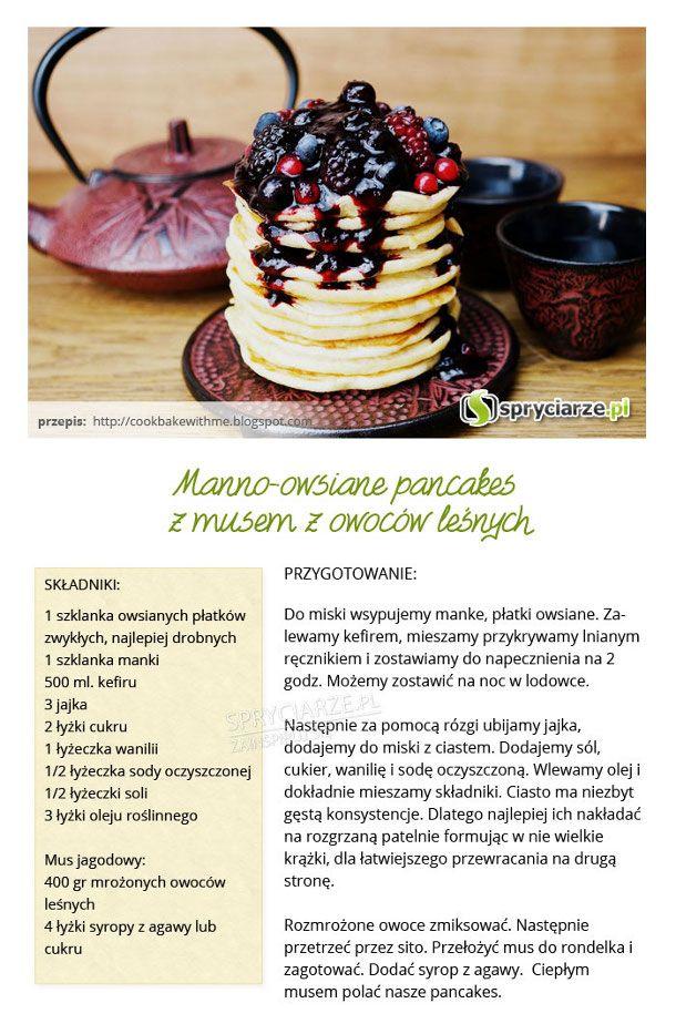 Przepis na manno-owsiane pancakes