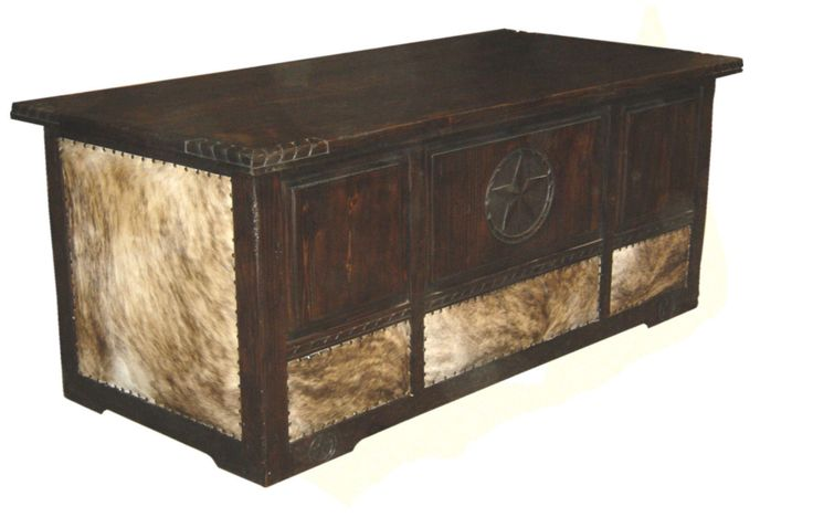 Dark Cowhide Desk W Star Rope Rustic Furniture Great Western Furniture Co Office