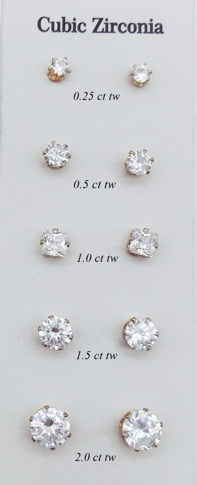 Men's Earrings Women's Cubic Zirconia Stud Earrings Gold Silver Cz Earrings 2015