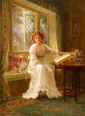 Victorian British Painting: Alfred Joseph Woolmer  Victorian Painting Portrait Artists