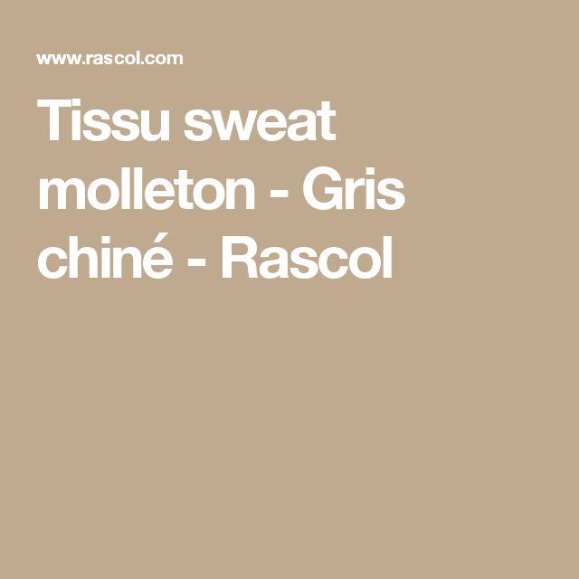 Tissu sweat molleton - Gris chiné - Rascol