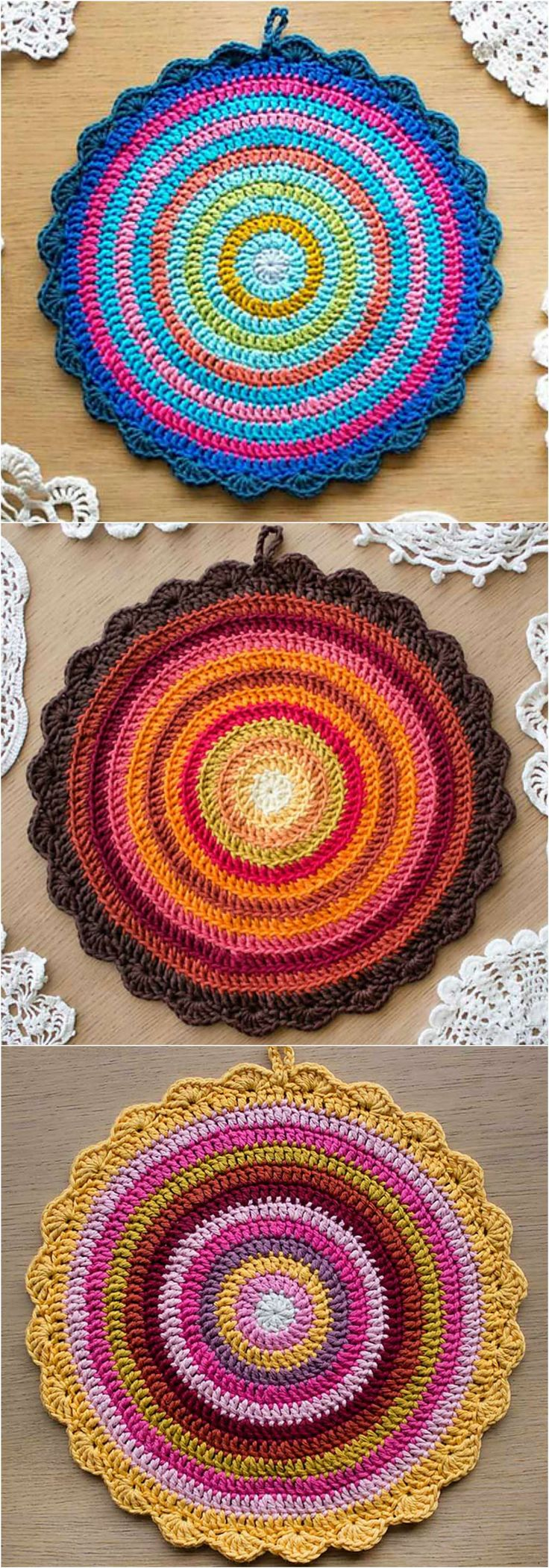 Crochet Standard 12 Round Mandala