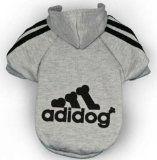 Adidog Grey Dog Sweatshirt Hoodie Jacket – For the Best Fashion Pets