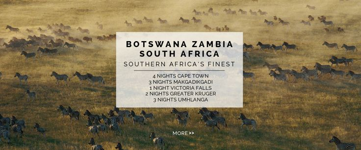 Botswana, Zambia & South Africa - 4 Nights Cape Town, 3 Nights Makgadikgadi, 1 Night Victoria Falls, 2 Nights Greater Kruger, 3 Nights Umhlanga