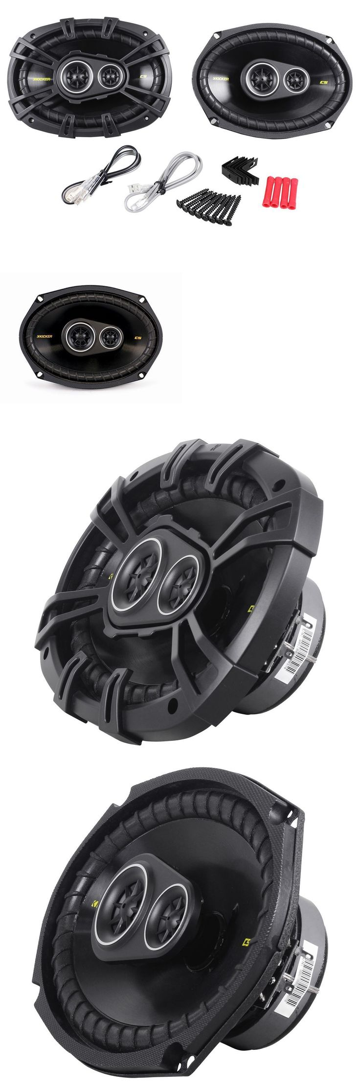 Car Speakers and Speaker Systems: Kicker 40Cs6934 Cs693 6X9 6X9 450 Watt 4-Ohm 3-Way Car Audio Coaxial Speakers BUY IT NOW ONLY: $79.95