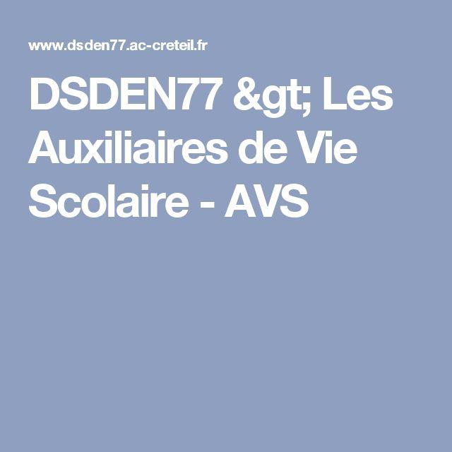 DSDEN77 > Les Auxiliaires de Vie Scolaire - AVS