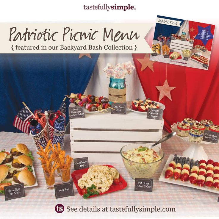 "Are you having people over for Memorial Day weekend? Our Backyard Bash collection comes with three impressive, EASY menu options that will have you feeling like Martha Stewart...without the jail time.  Contact me or shop online in the ""occasions"" tab to see all of our Holiday Fun collections and menus! Be sure to order by Friday to allow plenty of time for shipping.  www.tastefullysimple.com/web/dyoho"