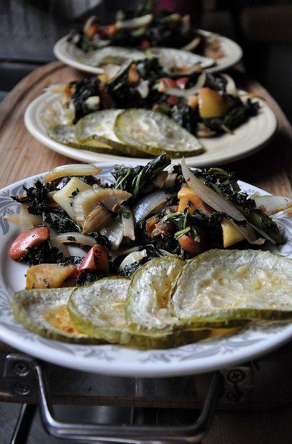 Warm Apple-Fennel Salad with Roasted Opo Squash