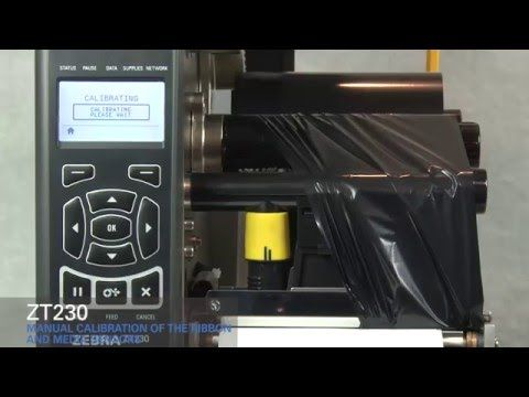 Zebra ZT230 How-To Manually Calibrate Ribbon and Media Sensors - YouTube
