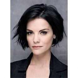 #WigsBuy Short Wigs Short Straight Lob Side Swept Fringes Hairstyle Lace Front Black Human Hair Wigs 10 Inches – BestHairSale.com #Shorthairbob