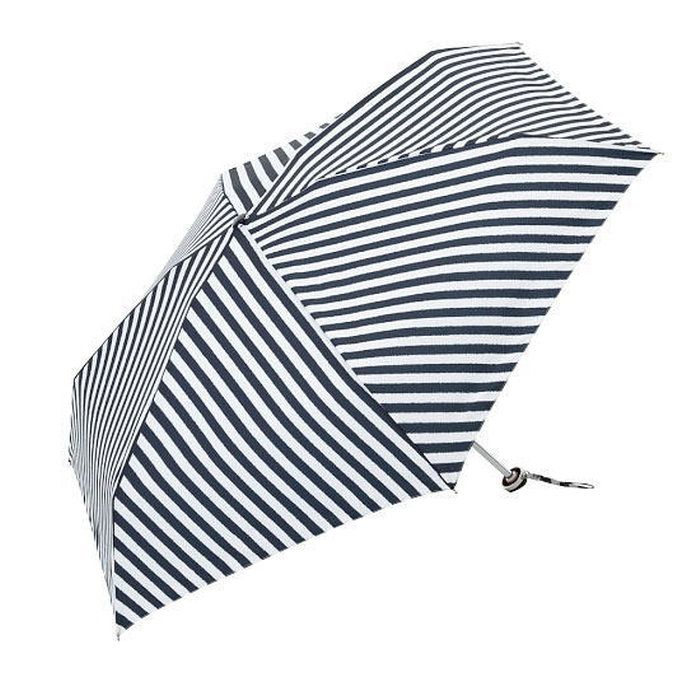 【2016春夏Spring&Summer女性用傘/雨傘】ボーダーマルセイユMini三つ折りタイプ女性用雨傘