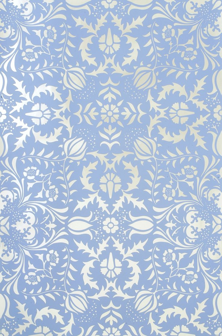 kid wallpaper usa mylar. Dauphine - Bywater Blue On Silver Mylar Wallpaper By Flavor Paper Kid Usa D