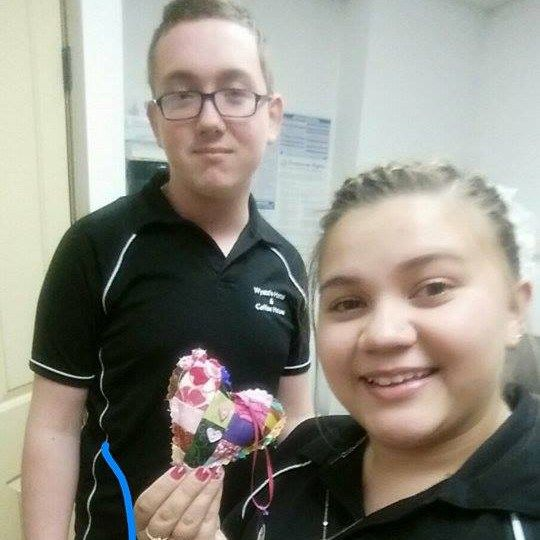 Found outside Wyatts Hotel & Coffee House in Tombstone AZ! #ifaqh #ifoundaquiltedheart