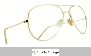Tennis Club Clear Lens Aviators Frame Glasses - 108 Gold