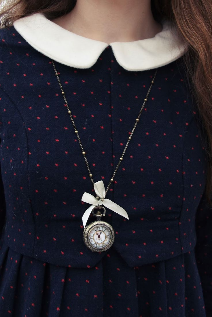 I absolutely love the little clock pendant with the collared top. I feel like this is something CutiePieMarzia would wear. http://www.thesterlingsilver.com/product/marc-jacobs-womens-watch-analogue-quartz-leather-blue-stainless-steel-case-mbm1331/