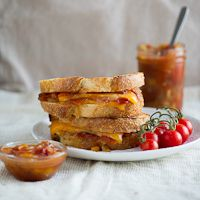 Tomato Chutney Grilled Cheese Sandwich