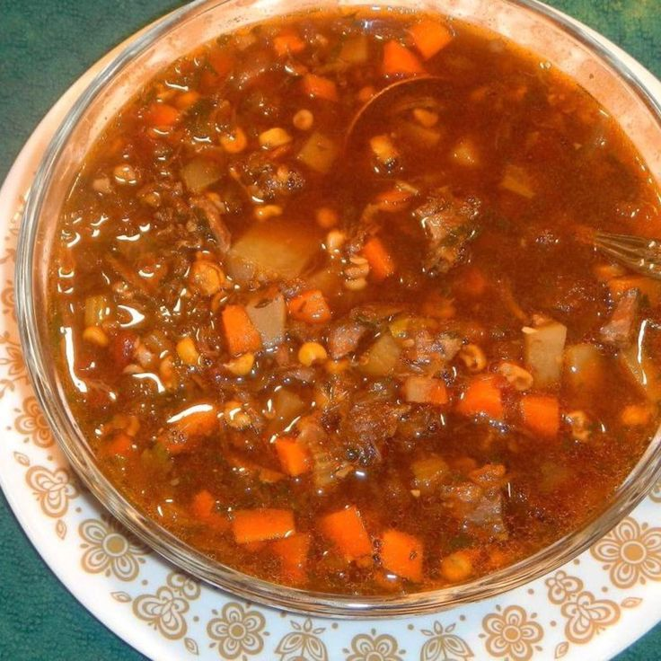 BEEF BONES VEGETABLE SOUP.. from scratch Recipe | Just A Pinch Recipes Going to try this with all my soup bones.