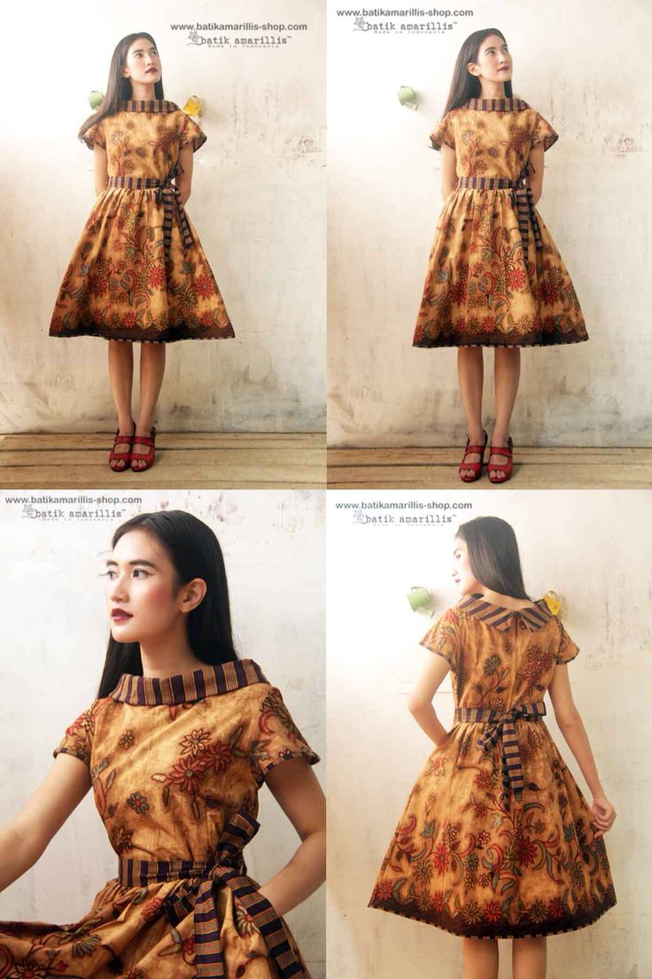 Batik Amarillis Made in Indonesia proudly presents the Iconic Series..Hey Day dress #1 classic,classy and eternally chic '50s-inspired dress features flared full skirt,pockets,back zipper with Sash.it's supremely flattering with  an utterly feminine silhouette to full effect with statement detailing!