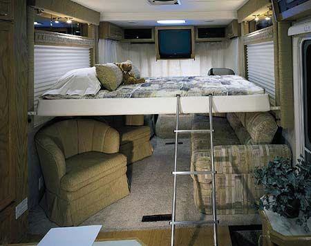 rv sleeping quarters  2004 Holiday Rambler TRAVELER